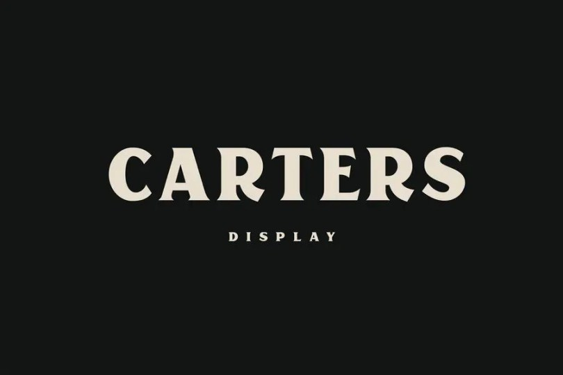 Carters Display [1 Font] | The Fonts Master