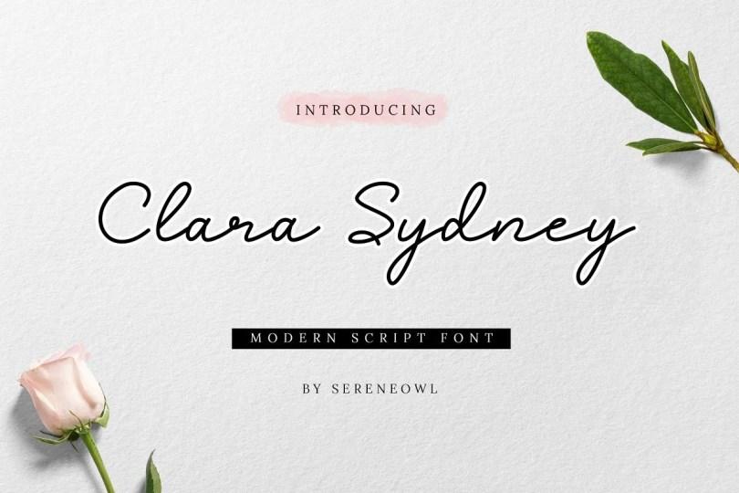 Clara Sydney [1 Font] | The Fonts Master