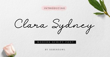 Clara Sydney [1 Font] | The Fonts Master