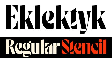 Eklektyk [2 Fonts] | The Fonts Master