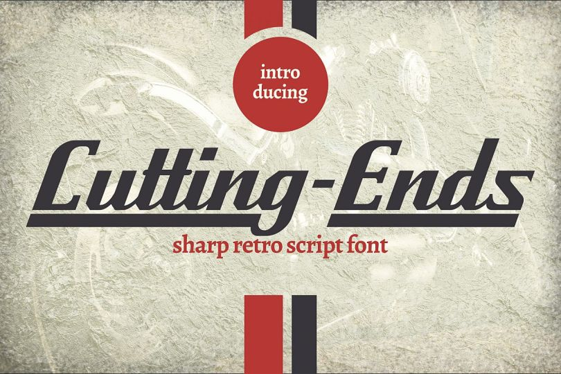 Cutting Ends [1 Font] | The Fonts Master