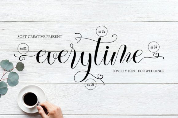 Everytime [1 Font]   The Fonts Master
