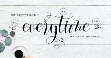 Everytime [1 Font] | The Fonts Master