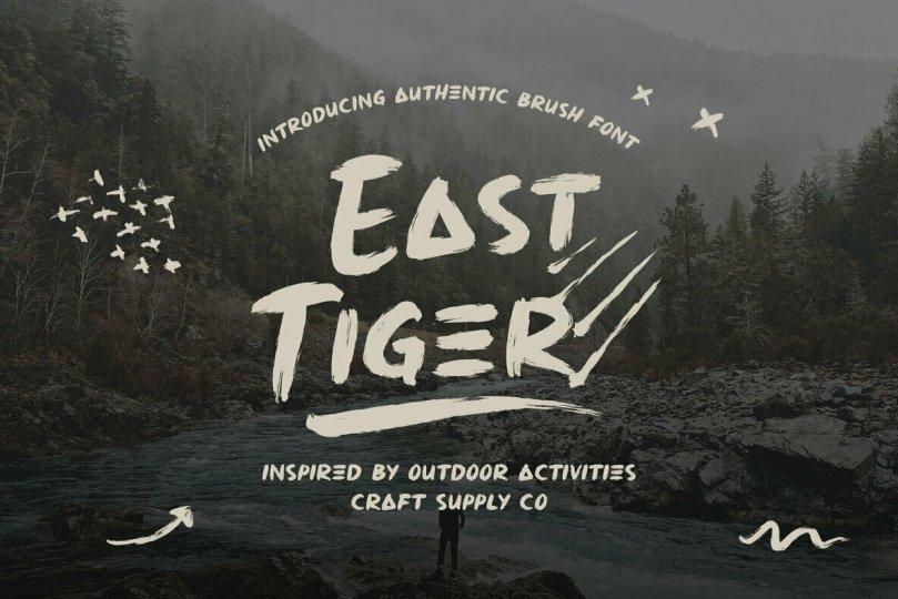 East Tiger [2 Fonts] | The Fonts Master