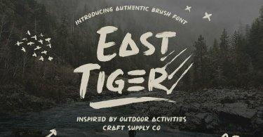 East Tiger [2 Fonts] | The Fonts Master