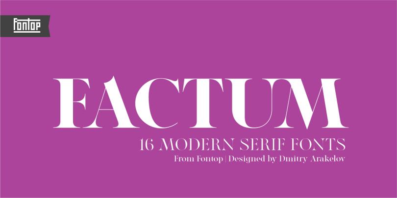 Factum [20 Fonts] | The Fonts Master