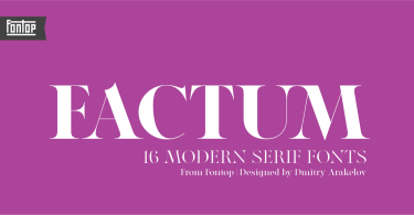 Factum [20 Fonts] | The Fonts Master
