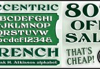 Fha Eccentric French [1 Font] | The Fonts Master