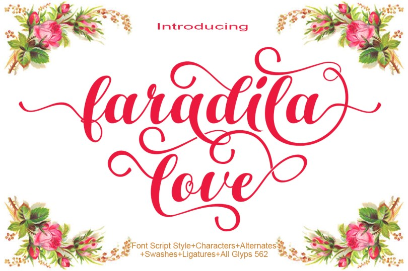 Faradila Love [1 Font] | The Fonts Master