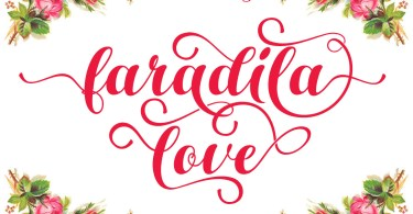 Faradila Love [1 Font] | The Fonts Master