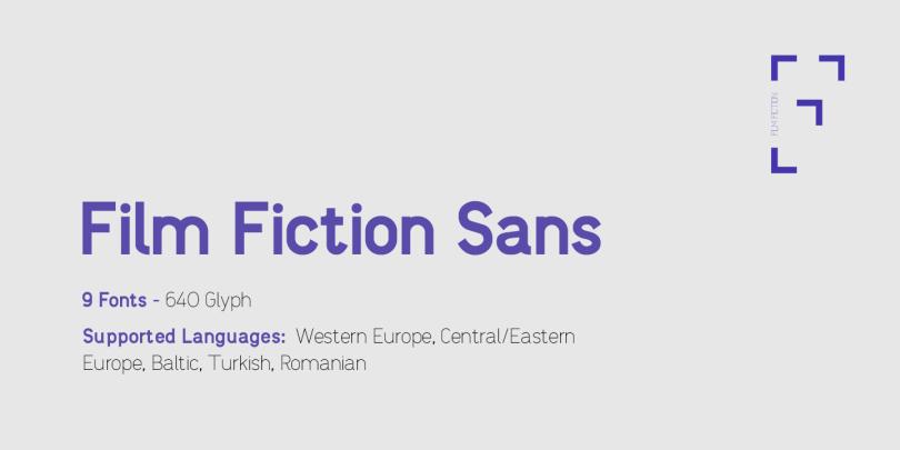 Film Fiction Sans [9 Fonts] | The Fonts Master