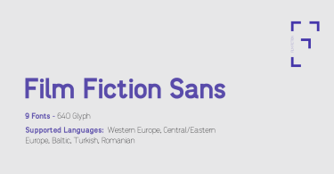 Film Fiction Sans [9 Fonts] | The Fonts Master