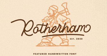Rotherham [1 Font] | The Fonts Master