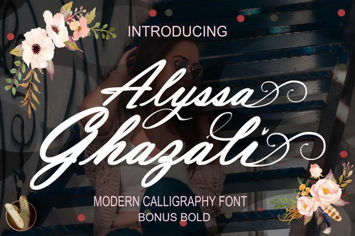 Alyssa Ghazali [2 Fonts] | The Fonts Master