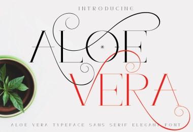 Aloe Vera [1 Font] | The Fonts Master