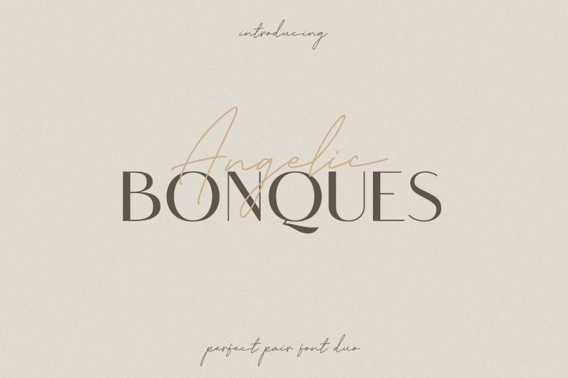 Angelic Bonques [3 Fonts] | The Fonts Master