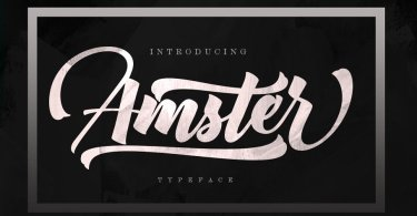 Amster [2 Fonts] | The Fonts Master