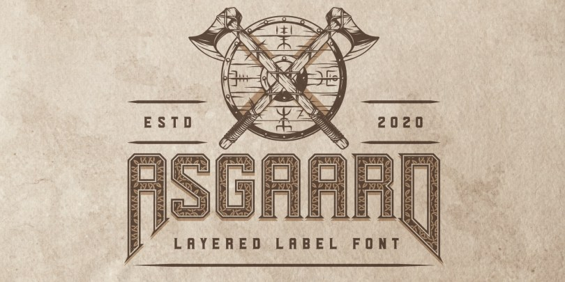 Asgaard [7 Fonts] | The Fonts Master