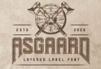 Asgaard [7 Fonts]   The Fonts Master