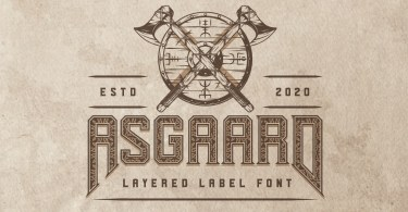 Asgaard [7 Fonts] | The Fonts Master