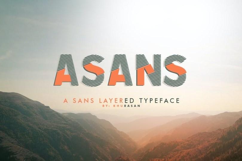 Asans [3 Fonts] | The Fonts Master
