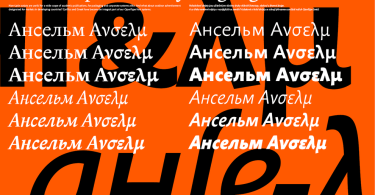 Anselm Sans Super Family [10 Fonts] | The Fonts Master