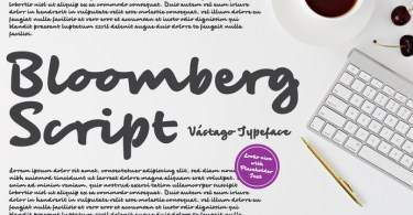 Bloomberg Script [1 Font] | The Fonts Master