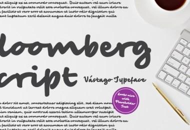 Bloomberg Script [1 Font] | The Fonts Master