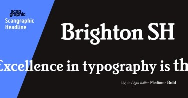 Brighton Sh [4 Fonts] | The Fonts Master