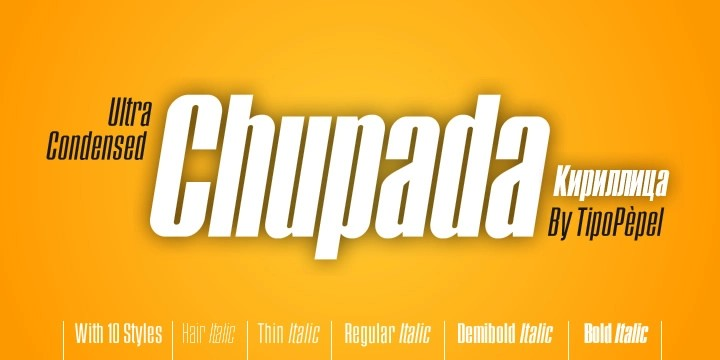 Chupada [10 Fonts] | The Fonts Master
