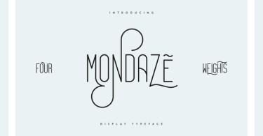Mondaze [4 Fonts] | The Fonts Master