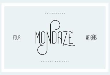 Mondaze [4 Fonts]   The Fonts Master