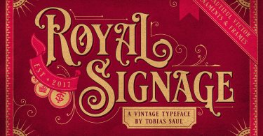 Royal Signage [1 Font] | The Fonts Master