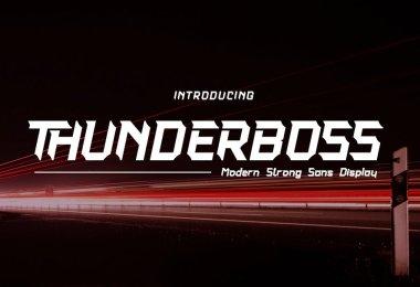 Thunderboss [2 Fonts] | The Fonts Master