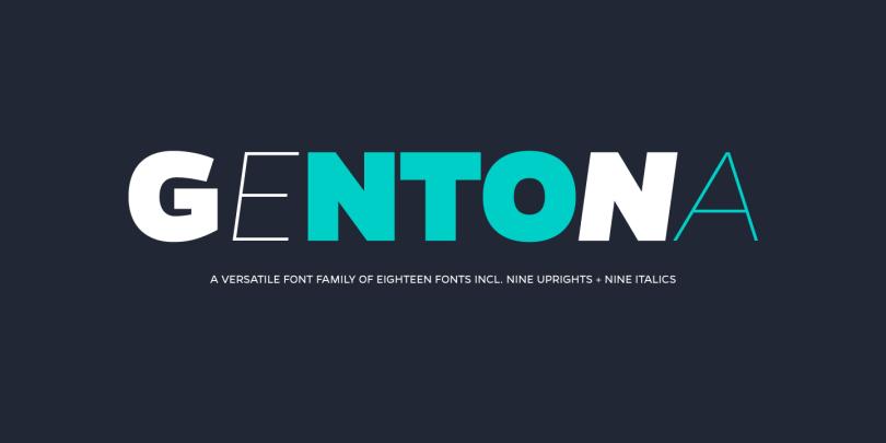 Gentona Super Family [18 Fonts] | The Fonts Master