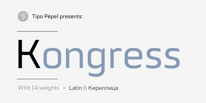 Kongress Super Family [14 Fonts] | The Fonts Master