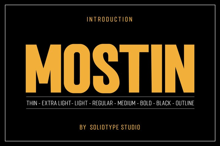 Mostin [8 Fonts] | The Fonts Master
