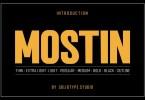 Mostin [8 Fonts] | The Fonts Master