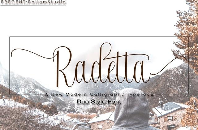 Radetta [2 Fonts] | The Fonts Master