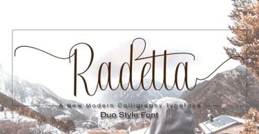 Radetta [2 Fonts] | The Fonts Master