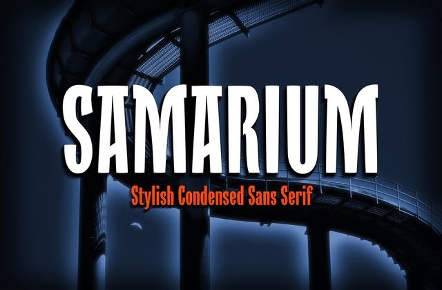 Samarium [1 Font]   The Fonts Master