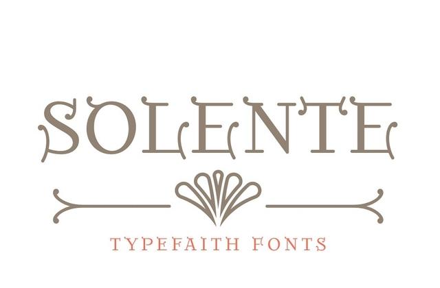 Solente [1 Font] | The Fonts Master