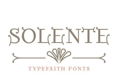 Solente [1 Font]   The Fonts Master