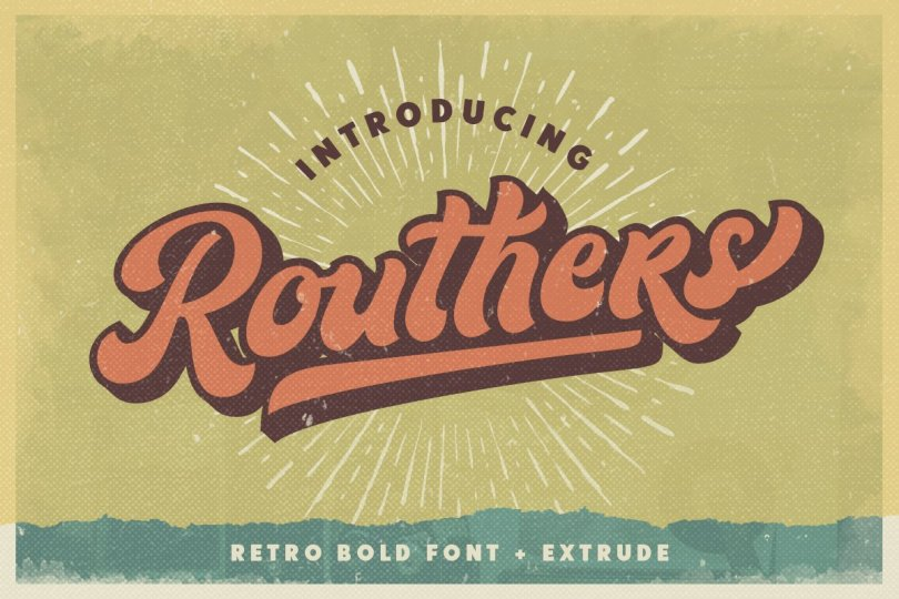 Routhers [2 Fonts] | The Fonts Master