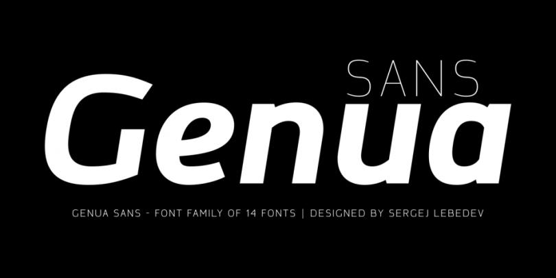 Genua Sans Super Family [14 Fonts] | The Fonts Master