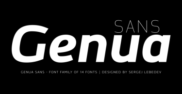 Genua Sans Super Family [14 Fonts] | The Fonts Master