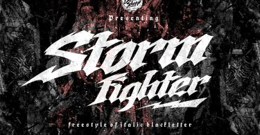 Storm Fighter [2 Fonts] | The Fonts Master