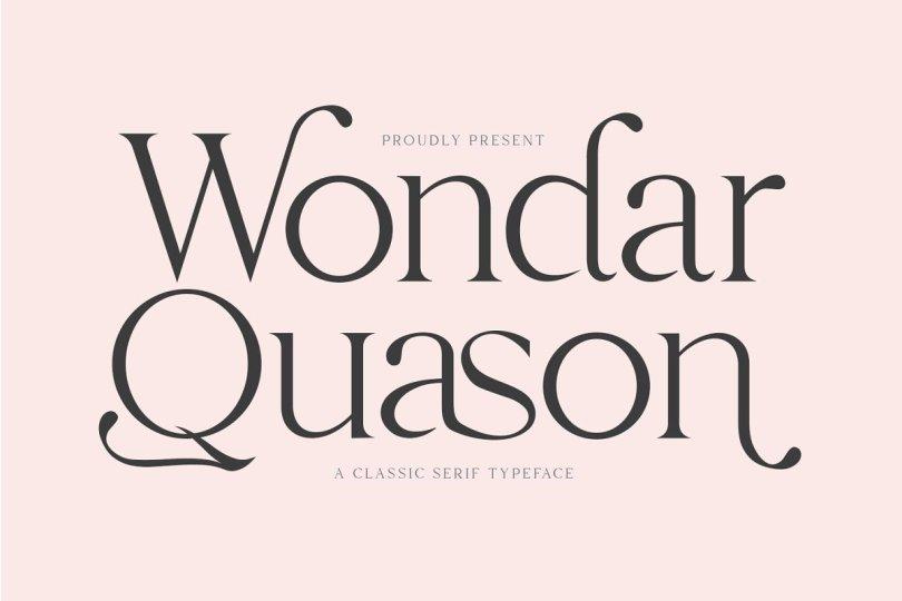 Wondar Quason [1 Font] | The Fonts Master