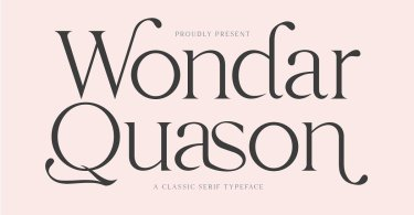 Wondar Quason [1 Font] | The Fonts Master