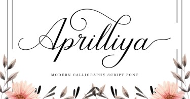 Aprilliya [1 Font] | The Fonts Master